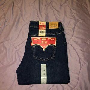 Girls Levi's 710 Super Skinny Jeans Size 14
